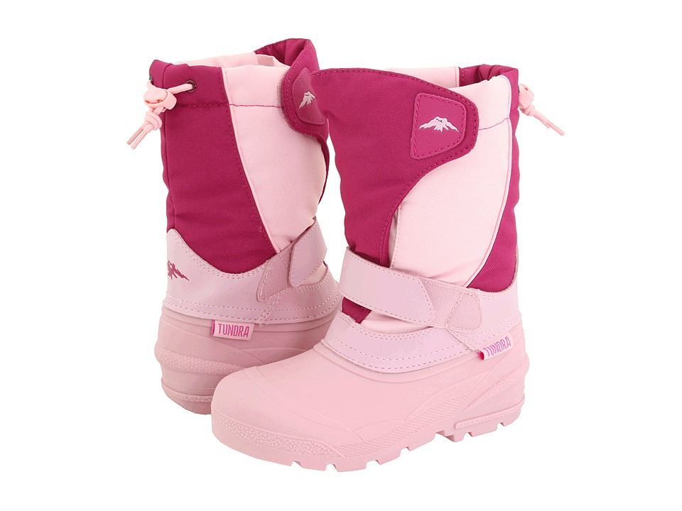 Tundra Boots Kids - Quebec (Toddler/Little Kid/Big Kid) (Fuchsia/Pink) Girls Shoes