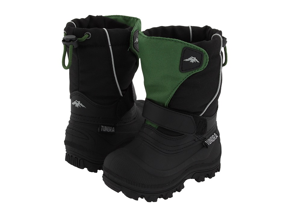 Tundra Boots Kids - Quebec Wide (Toddler/Little Kid/Big Kid) (Green/Black) Boys Shoes