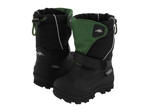 Tundra Boots Kids Quebec Wide (Toddler/Little Kid/Big Kid) - Green/Black