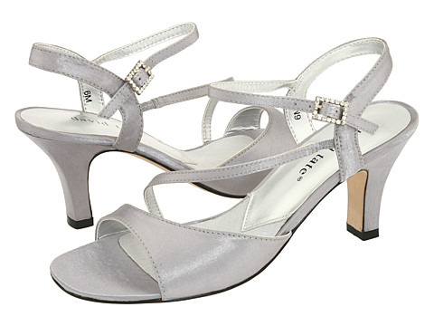 David Tate - Beverly (Silver Satin) - Footwear