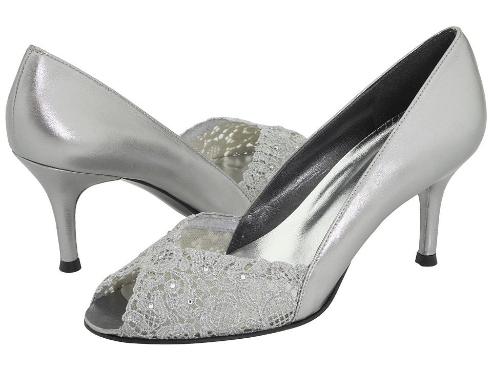 Stuart Weitzman Bridal amp Evening Collection Chantelle Aluminum Chantilly Lace High Heels
