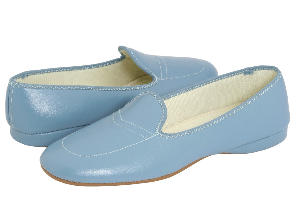 Daniel Green Meg (Blue Leather) Slippers