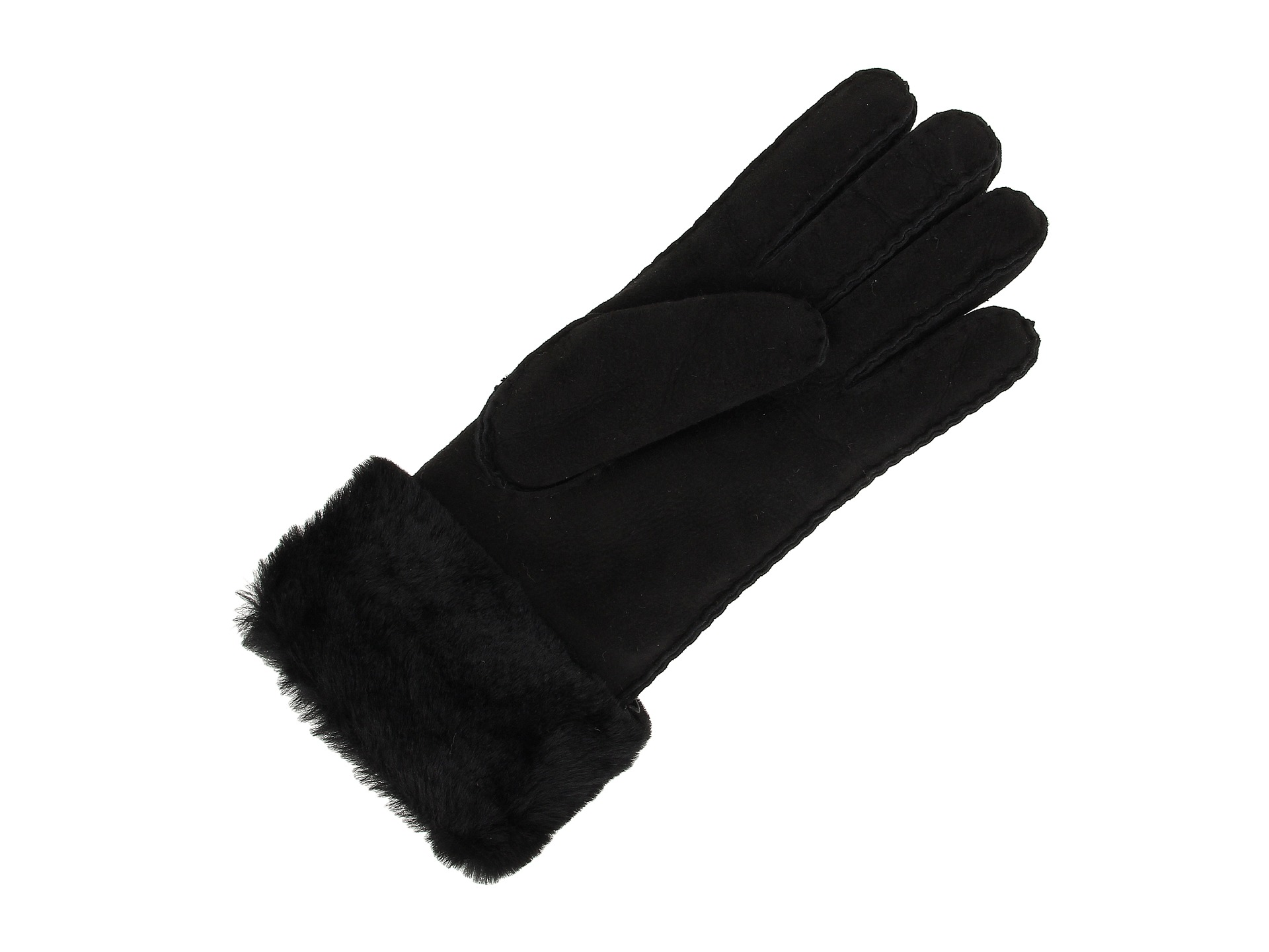 grey ugg turn cuff gloves