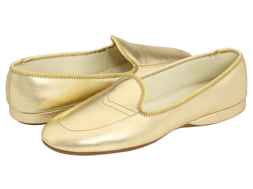 Daniel Green Meg (Gold Leather) Slippers