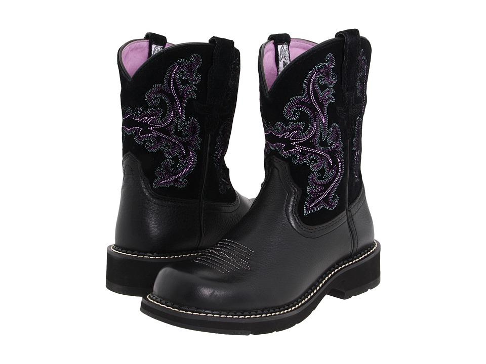 Ariat - Fatbaby Sheila (Black Deertan/Black) Cowboy Boots