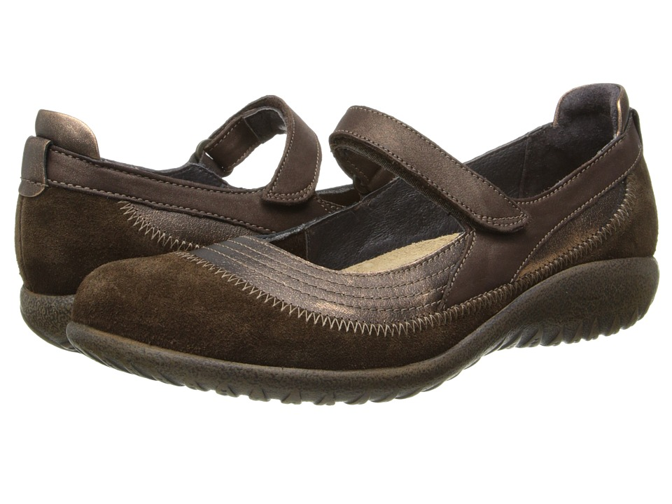 Naot Kirei (Burnt Copper Leather/Cocoa Suede/Antique Copp...