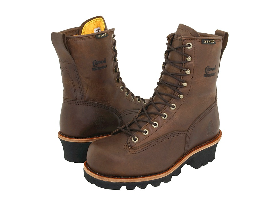 Chippewa - 8 Bay Apache Insulated Waterproof Steel Toe Logger (Brown) Mens Work Boots