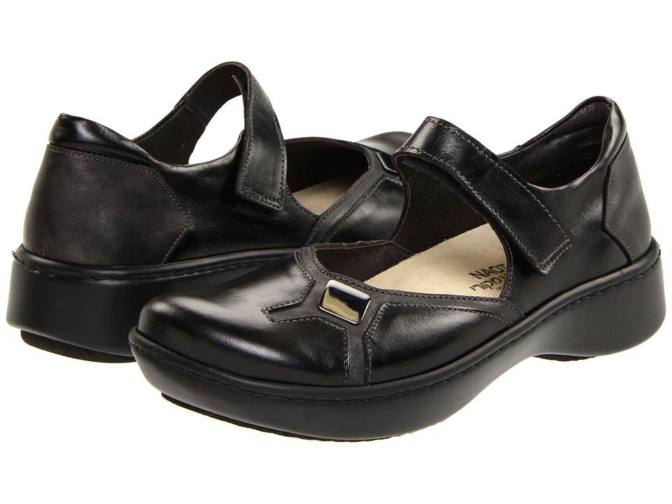 Naot Footwear - Surf (Black Pearl/Midnight Black) Women