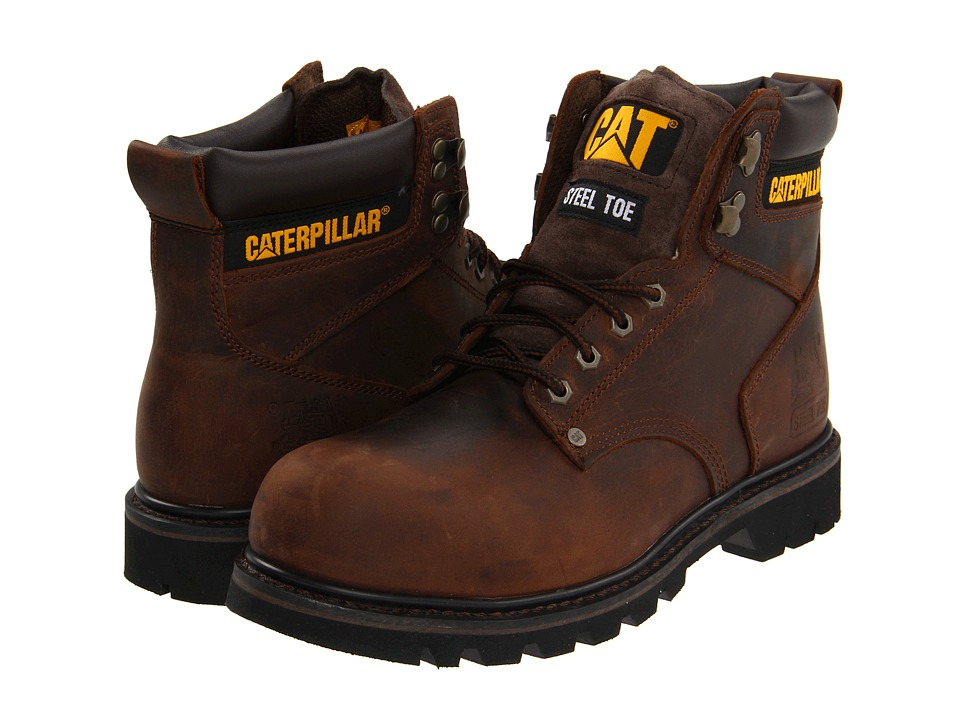 Caterpillar 2nd Shift Steel Toe (Dark Brown Leather) Men