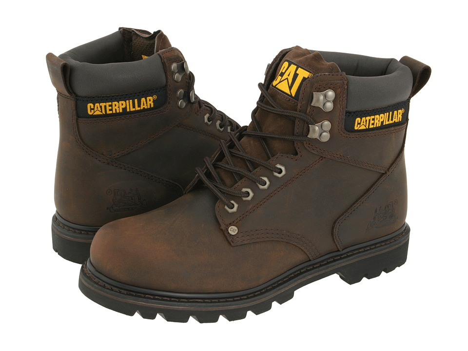 Caterpillar 2nd Shift Dark Brown Leather Mens Work Boots