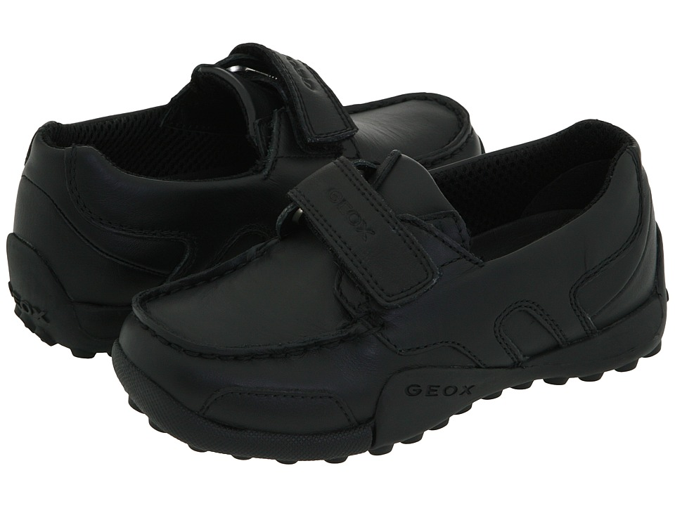 Geox Kids Jr. Snake Moc Toddler Black Boys Shoes