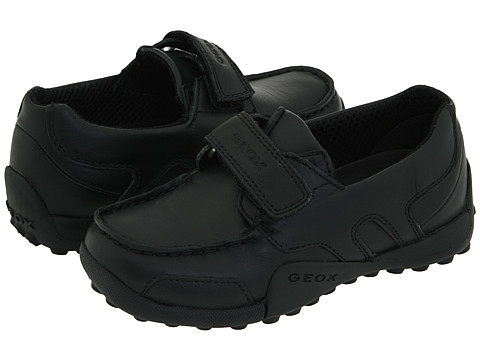 Geox Kids Jr. Snake Moc (Toddler) - Black