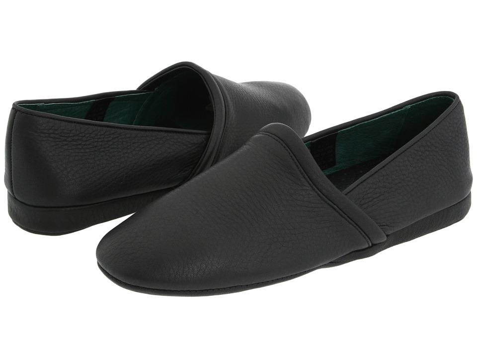 L.B. Evans Aristocrat Opera Black Leather Mens Slippers