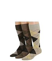 Ecco Socks - Argyle Dress Socks (Light Pack) 3 Pack