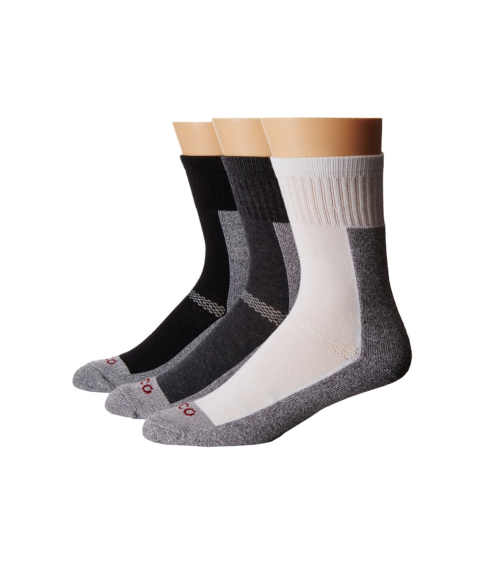 Ecco Socks Cushion Coolmax Crew Socks 6 Pack Black White Gray Womens Crew Cut Socks Shoes