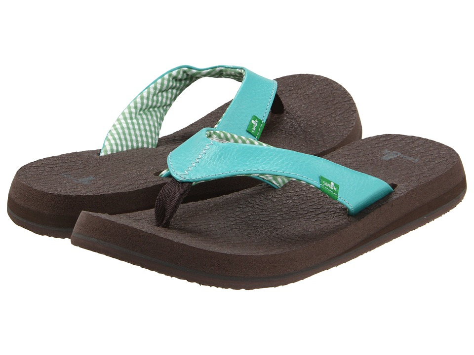 Sanuk Yoga Mat Aqua Womens Sandals