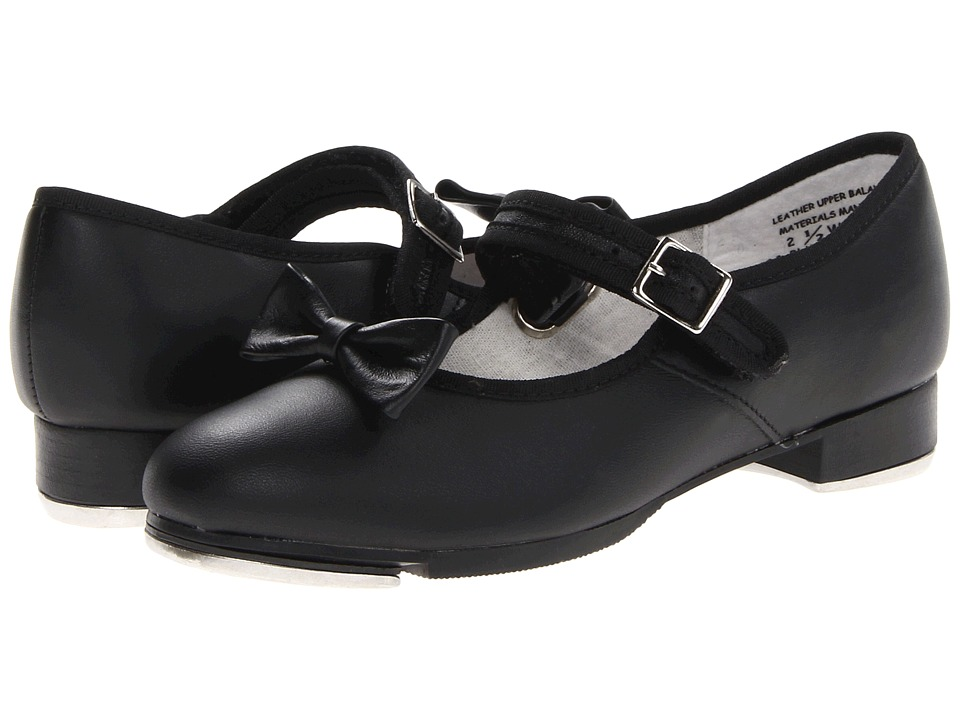 Capezio Kids - Mary Jane - 3800C (Toddler/Little Kid) (Black Leather) Girls Shoes