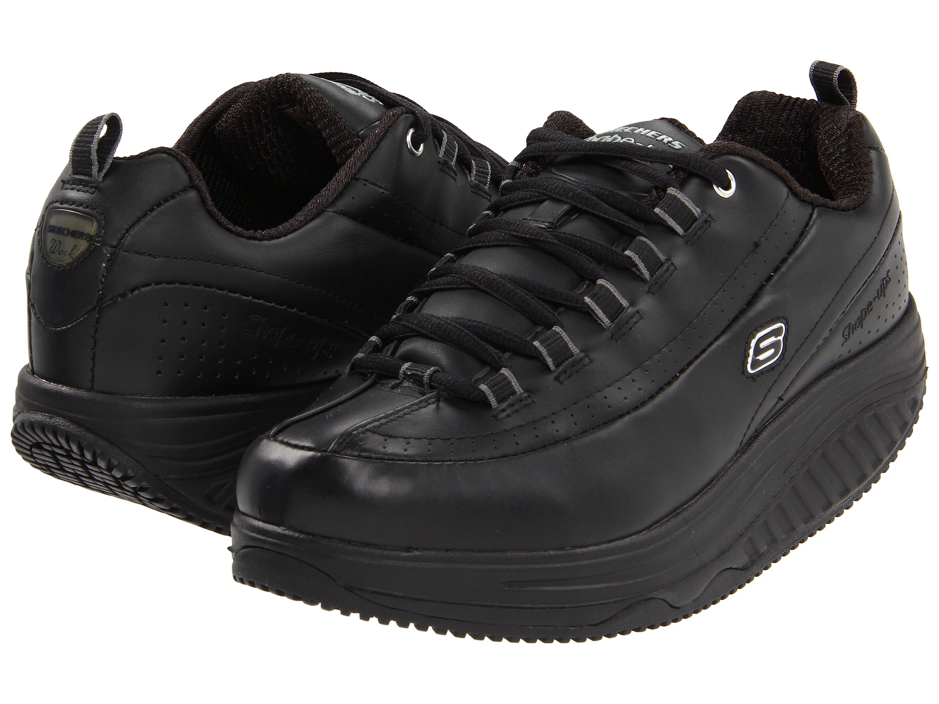 skechers work slip resistant shape ups black black. Black Bedroom Furniture Sets. Home Design Ideas
