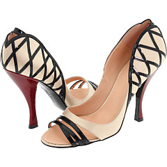 Jean Paul Gaultier  :  shoes leather open toe high heel