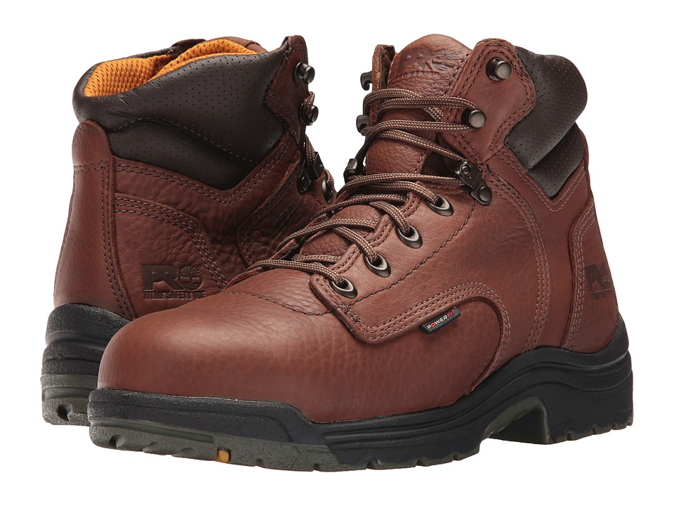 Timberland PRO - TiTAN 6 Safety Toe (Coffee Full-Grain Leather) Men