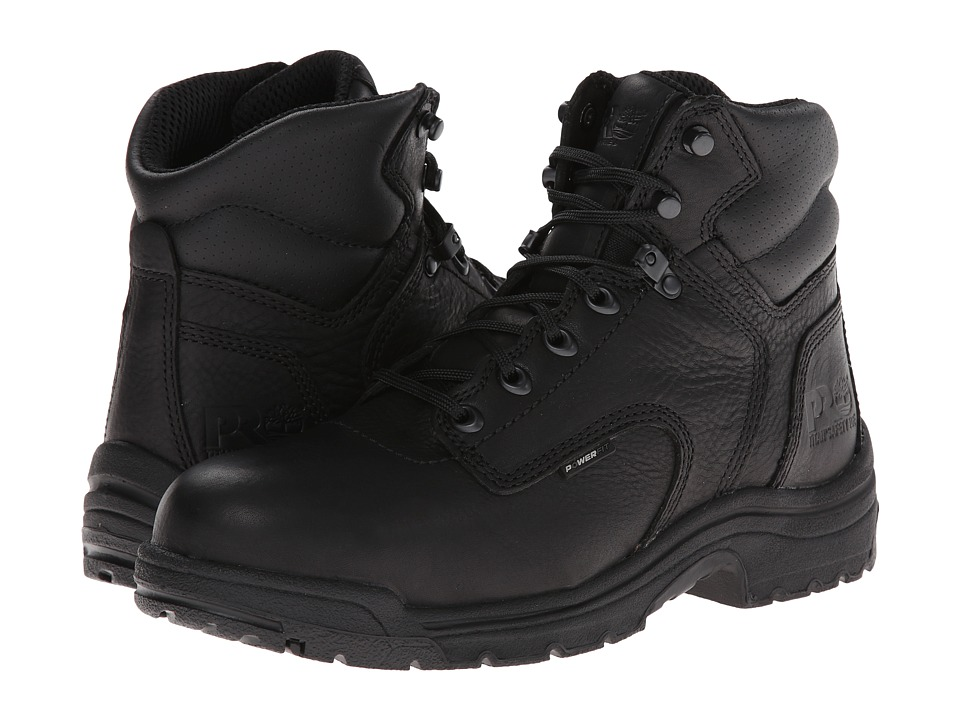 Timberland PRO - TITAN(r) 6 Alloy Safety Toe (Blackout Full-Grain Leather) Mens Work Lace-up Boots