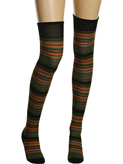 Missoni - Above the Knee Stripe Sock (Olive) - Hosiery