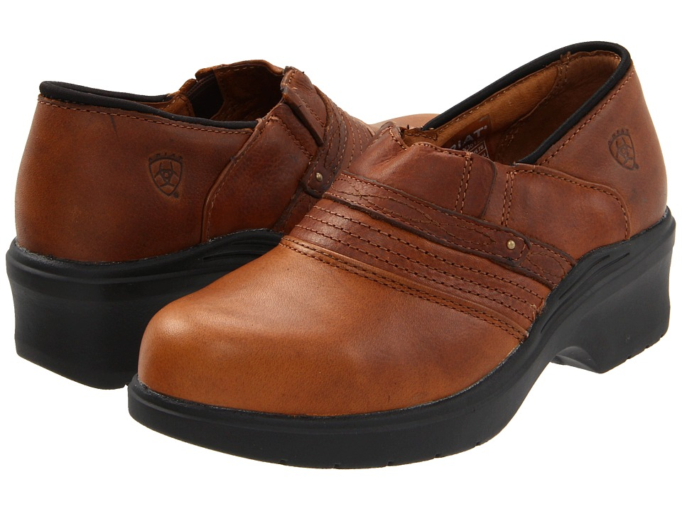 Ariat Safety Toe Clogs (Brown) Women's Clogs