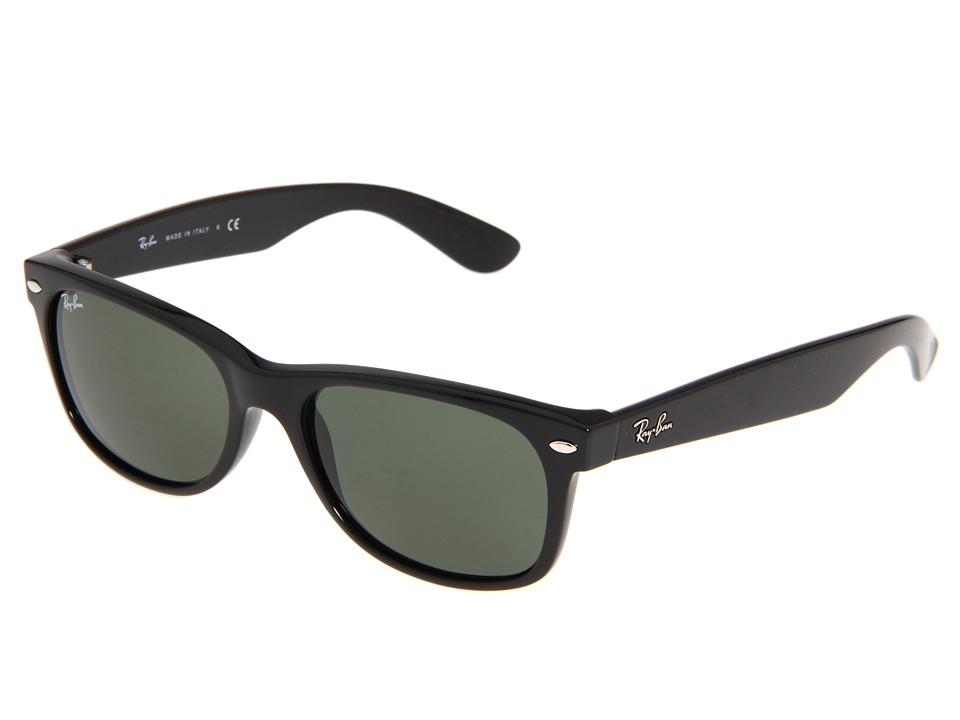 Ray-Ban RB2132 New Wayfarer 55mm (Black/G-15 XLT Lens) Fashion Sunglasses