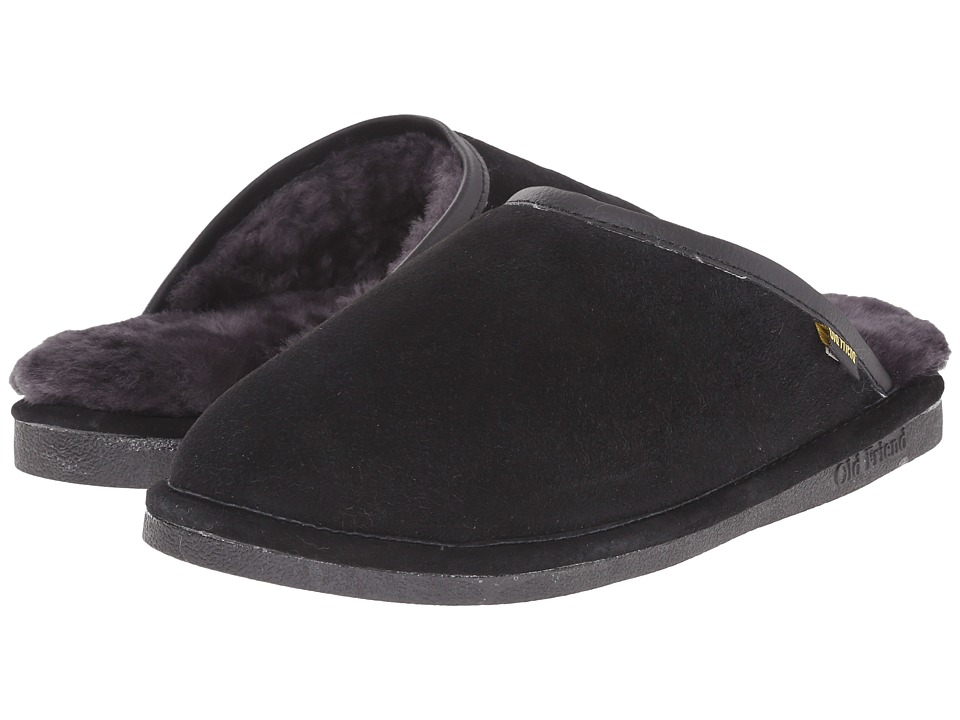 Old Friend - Scuff (Black) Mens Slippers