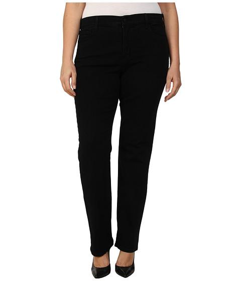 NYDJ Plus Size Plus Size Marilyn Straight in Black