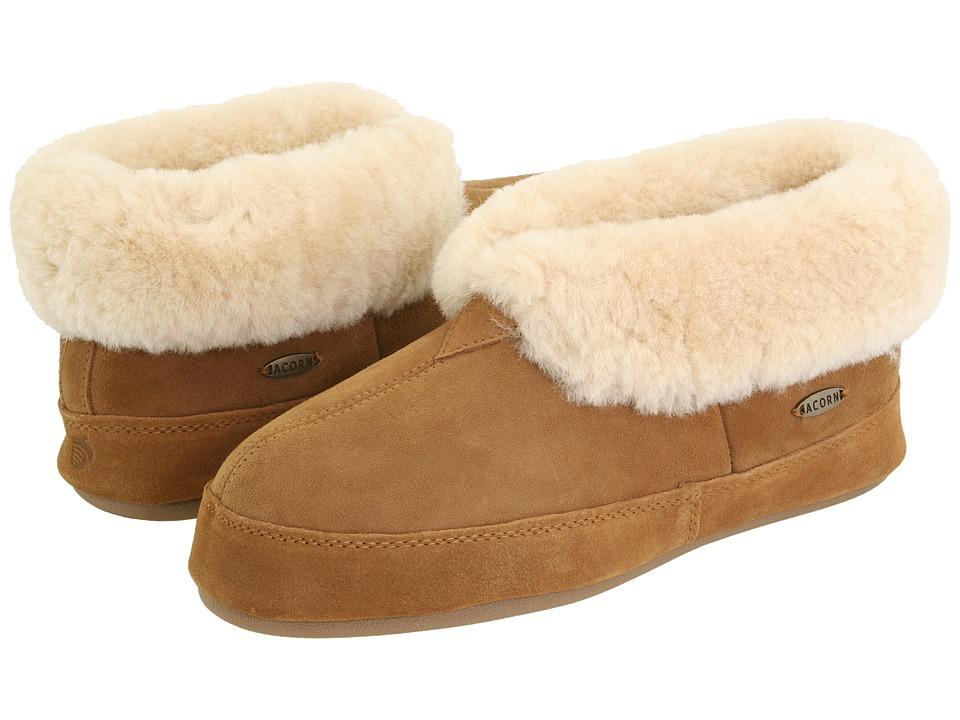 Acorn Sheepskin Bootie II Walnut Sheepskin Mens Shoes