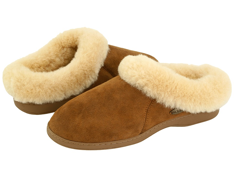 Acorn Ewe Collar (Walnut Sheepskin) Slippers