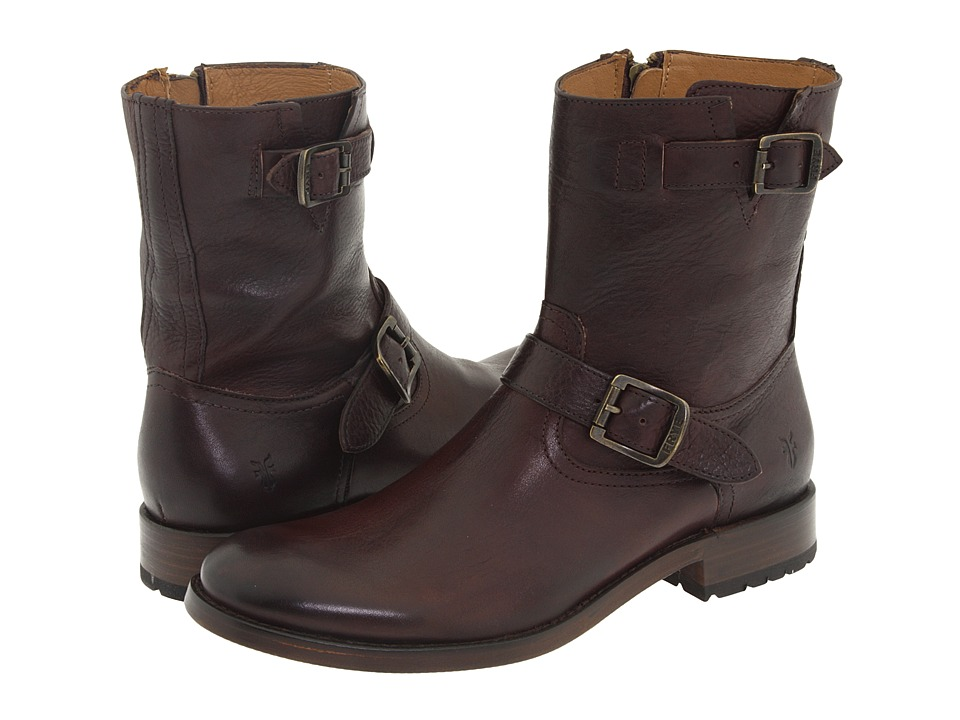 Frye - Jackson Inside Zip (Dark Brown) Men