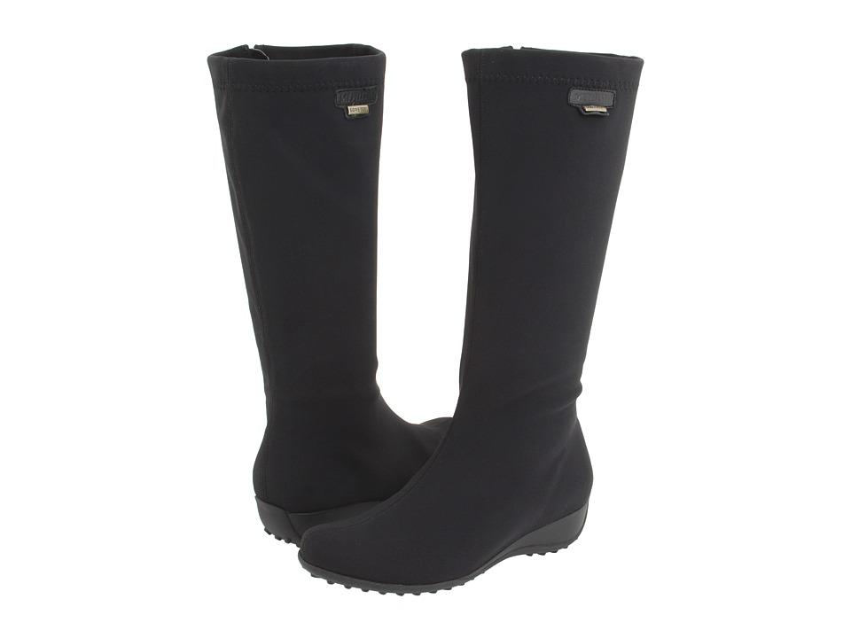 Mephisto Linda (Black Lycra) Women's Zip Boots