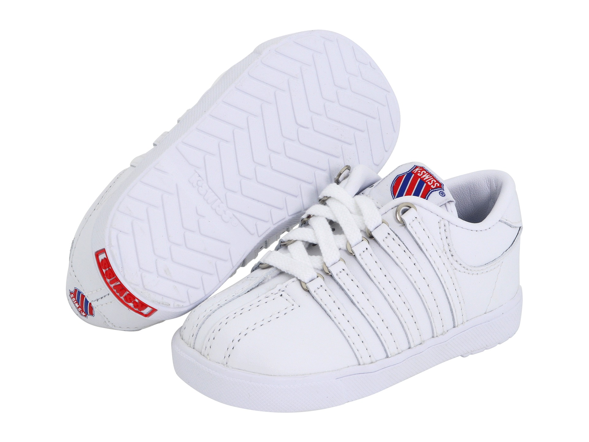 k swiss classic leather tennis shoe infant