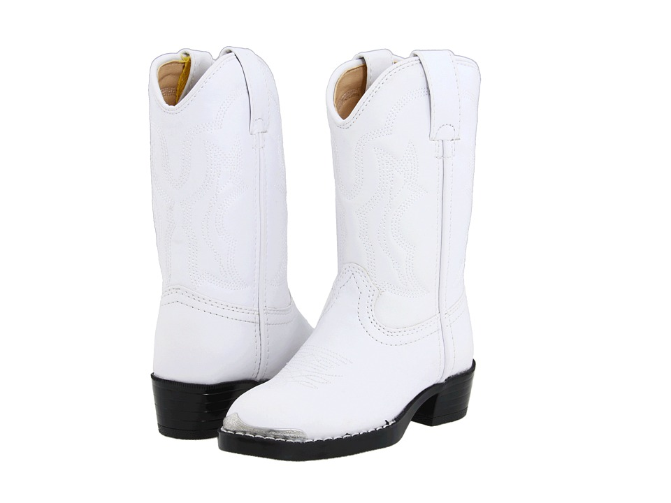 Durango Kids BT851 (Toddler/Little Kid) (White) Cowboy Boots