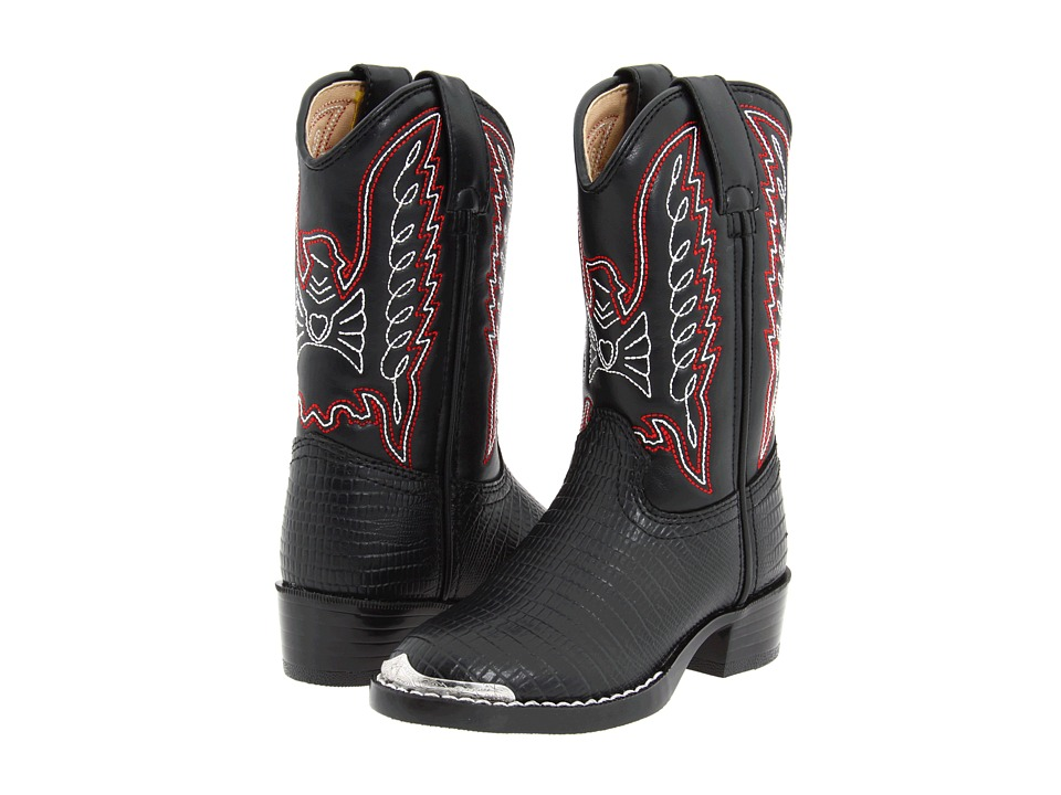Durango Kids BT840 (Toddler/Little Kid) (Black Lizard Print) Cowboy Boots