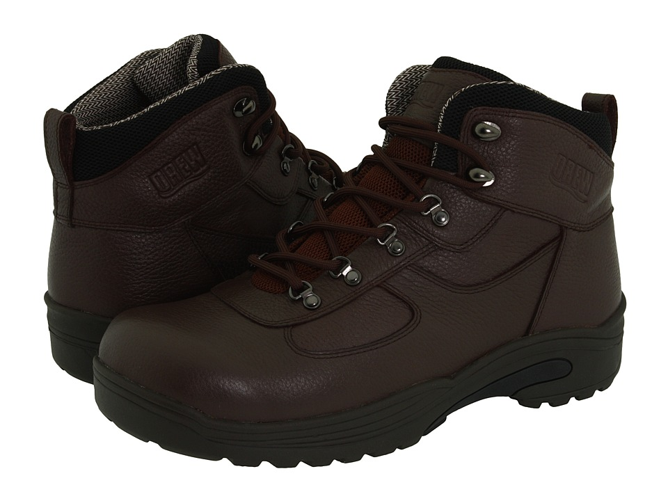 Drew Rockford Brown Tumbled Leather Mens Lace up Boots