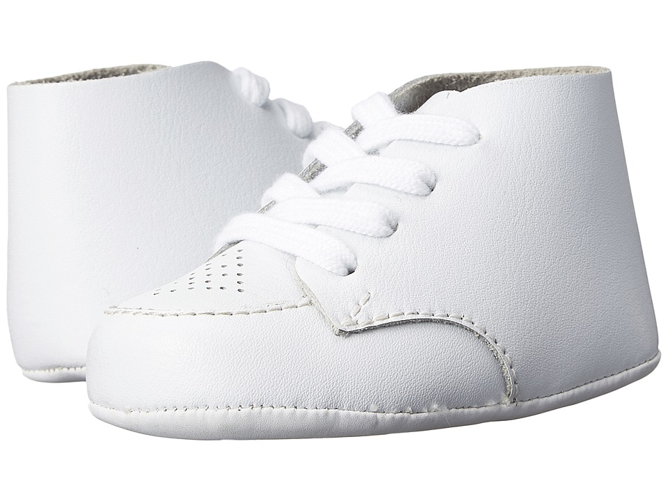 FootMates - Crib (Infant) (White Leather) Boys Shoes
