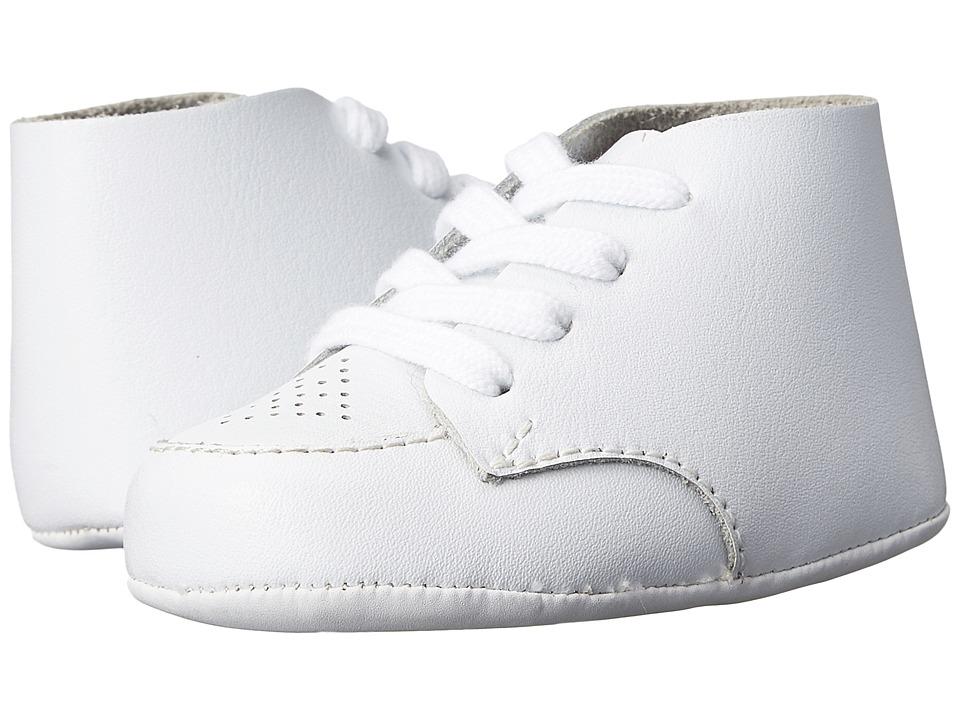 FootMates Crib Infant White Leather Boys Shoes