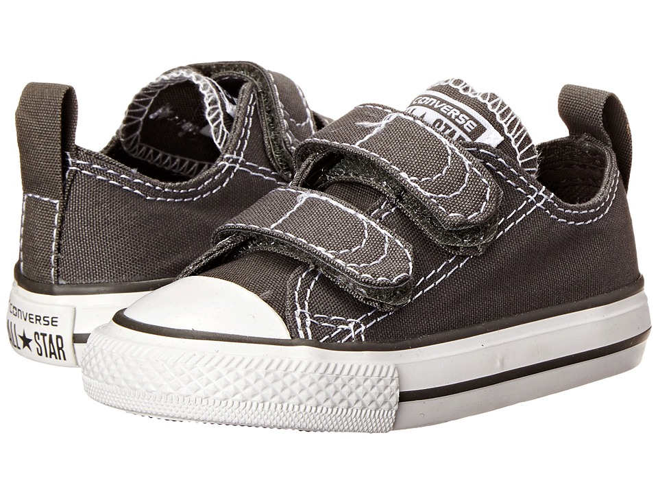 Converse Kids - Chuck Taylor(r) 2V Ox (Infant/Toddler) (Charcoal/White) Kids Shoes