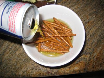 red bull pretzel pancakes.