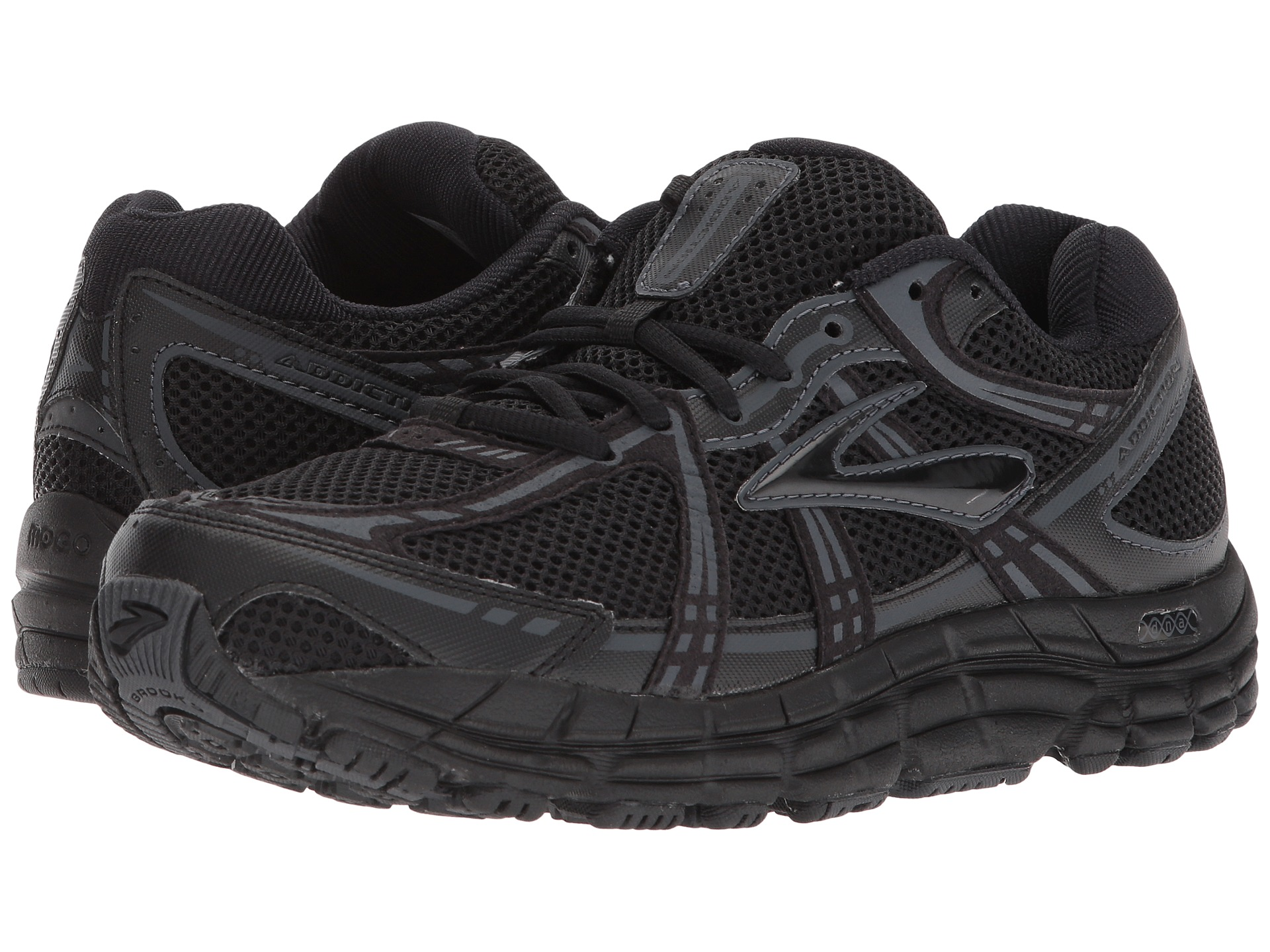 new addiction 10 mens running shoes solid black sz