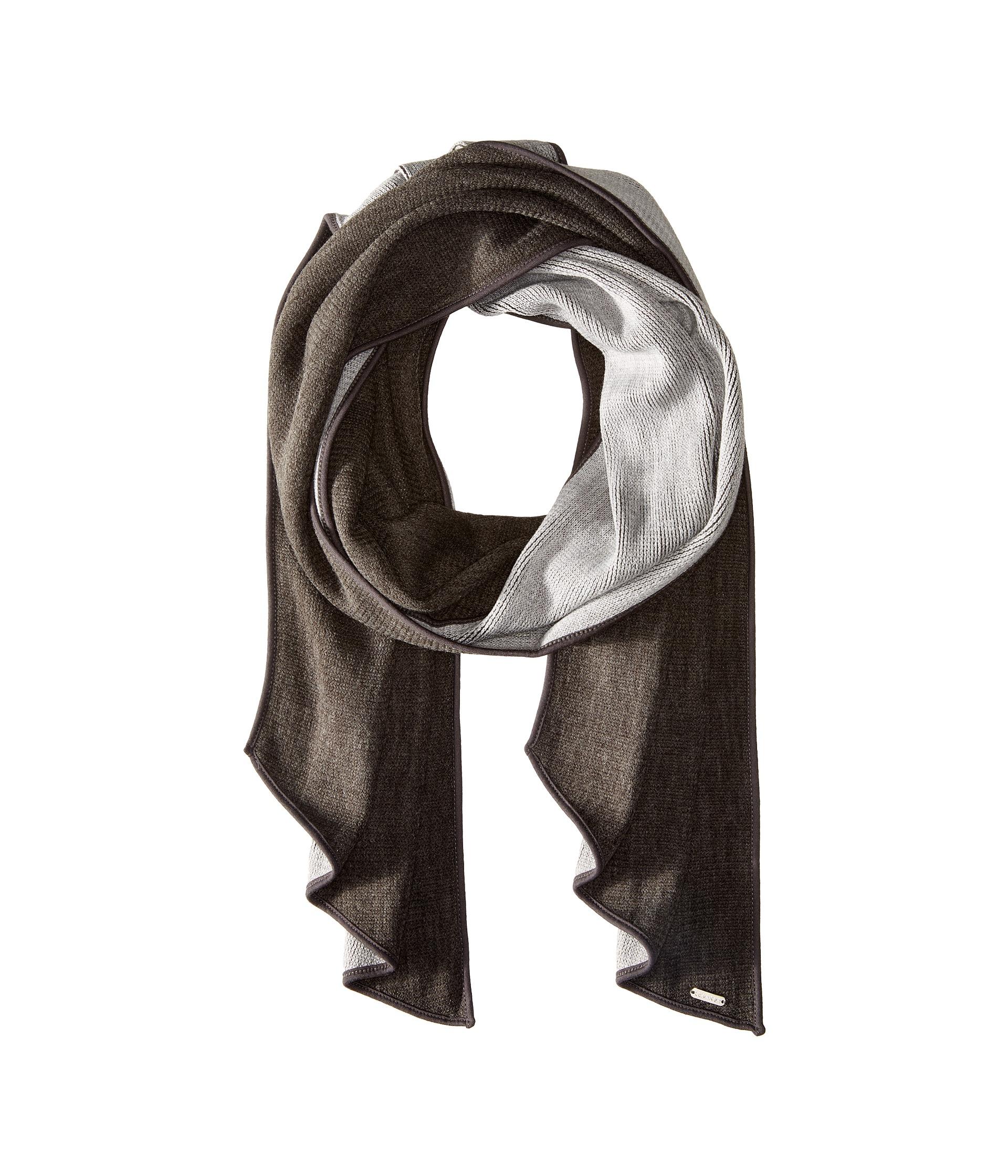 calvin klein faced angled scarf