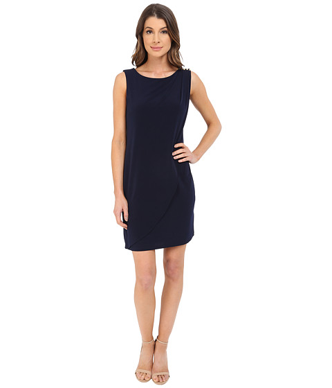 Sleeveless Ity Dress with Front Drape