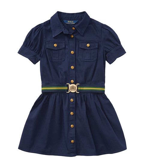 Tissue Chino Shirtdress (Little Kids)