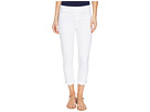 Sienna Pull-On Rolled-Cuff Capris Slub Stretch Twill in Bright White