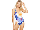 Floral Low V-Back One-Piece Swimsuit