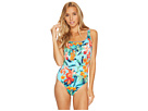 Floriana Reversible Laced-Back One-Piece Swimsuit