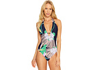 Midnight Paradise V-Plunge One-Piece